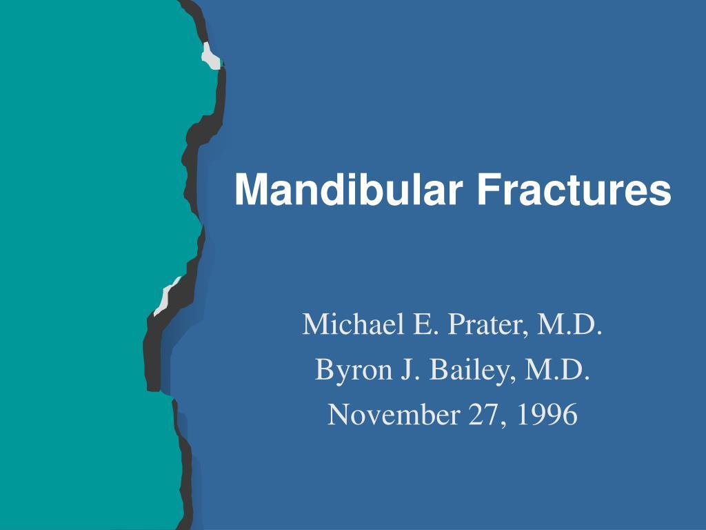 mandibular fractures l.