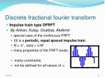 discrete fractional fourier transform32