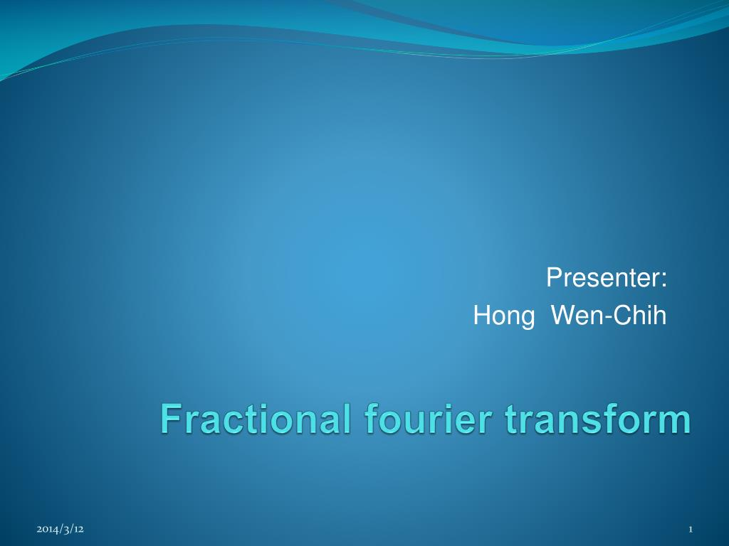fractional fourier transform l.