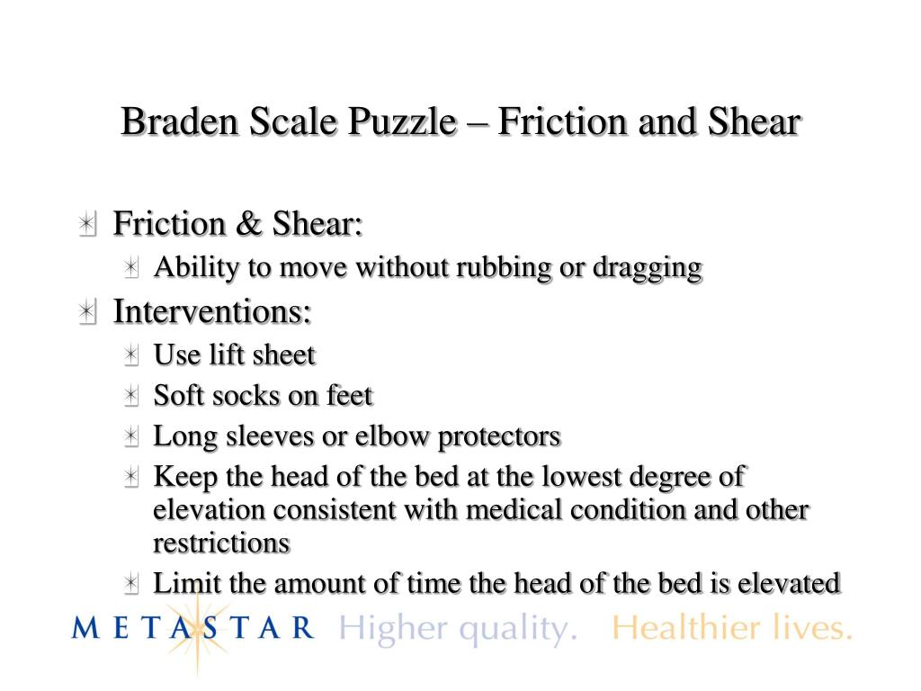 Braden Scale Puzzle – Friction and Shear