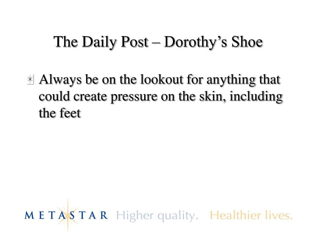 The Daily Post – Dorothy's Shoe