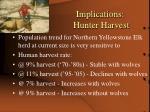 implications hunter harvest