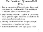 the fractional quantum hall effect