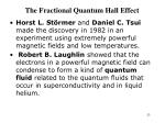 the fractional quantum hall effect23