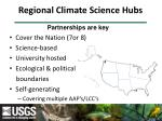 regional climate science hubs