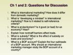 ch 1 and 2 questions for discussion