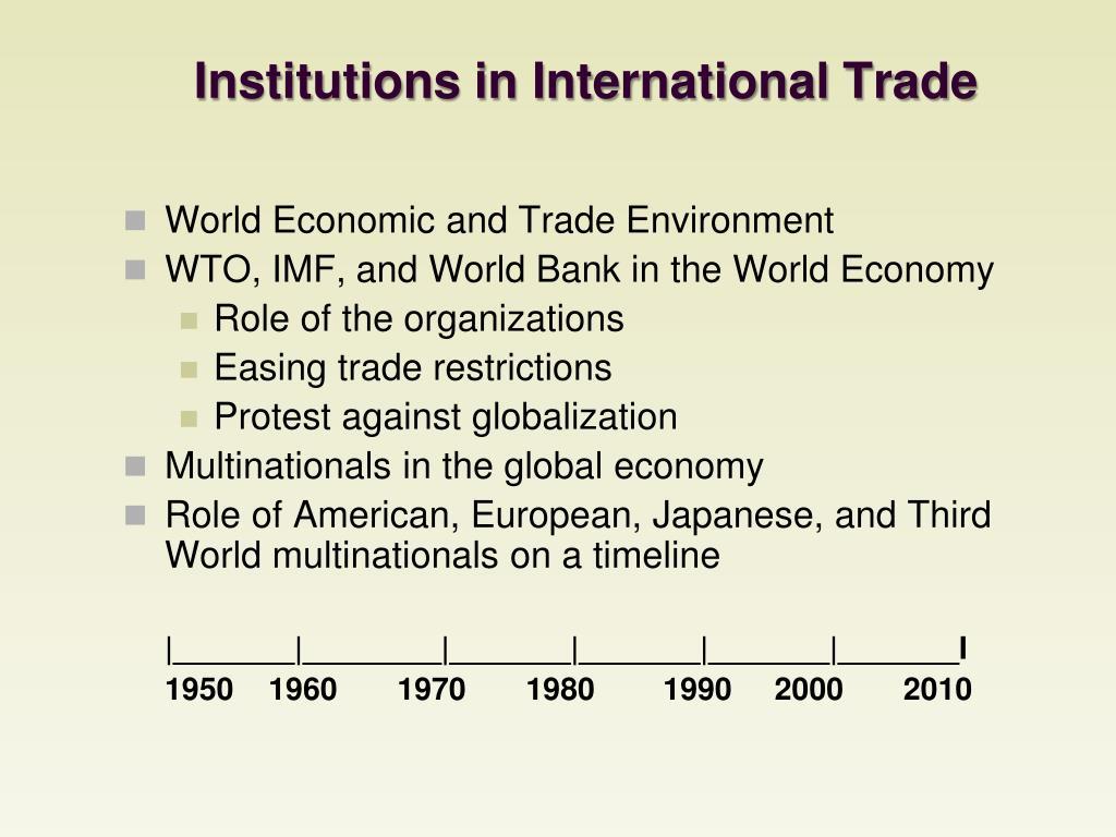 Institutions in International Trade