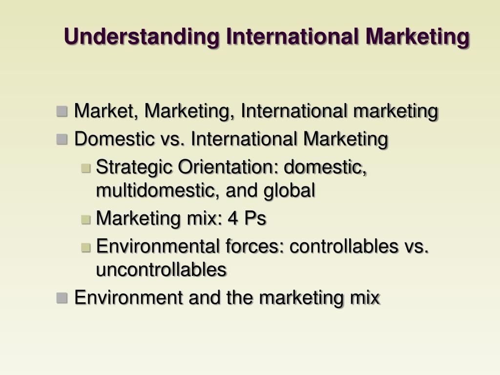 Understanding International Marketing