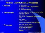 policies institutions processes