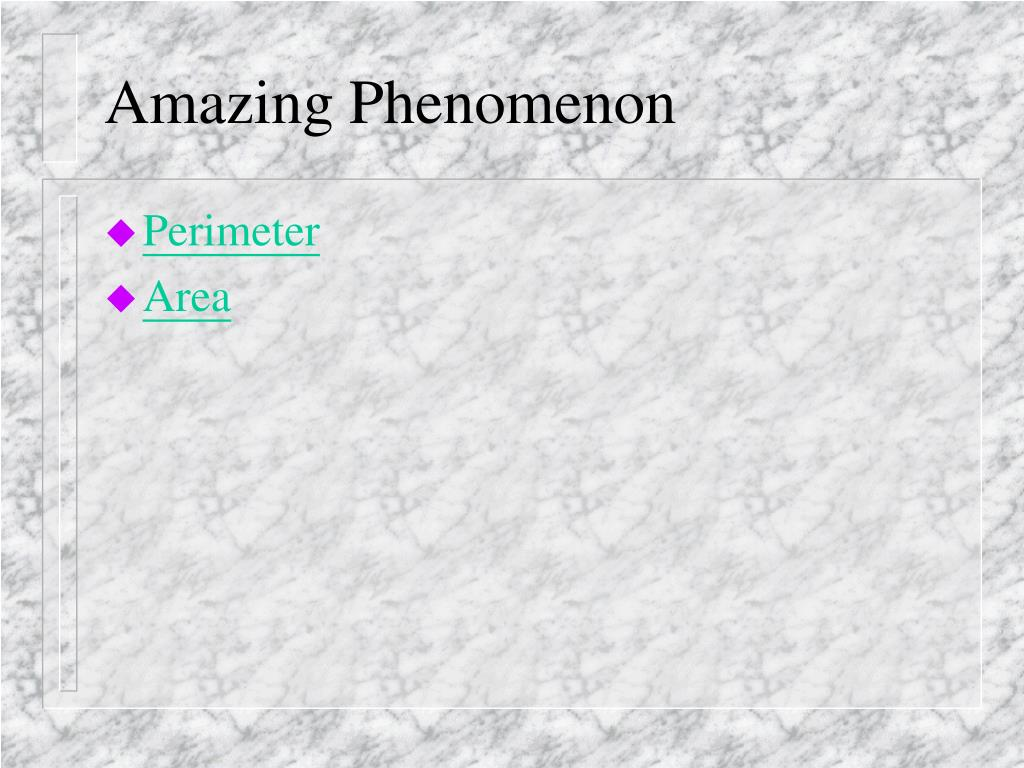 Amazing Phenomenon