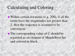 calculating and coloring