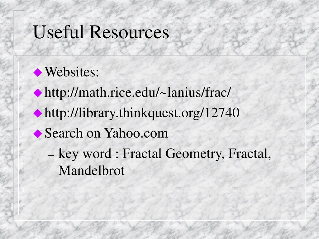 Useful Resources