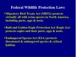 federal wildlife protection laws