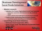 business development local foods initiatives