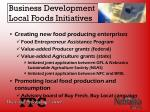 business development local foods initiatives20