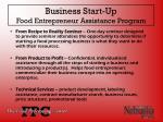 business start up food entrepreneur assistance program
