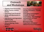 outreach and workshops
