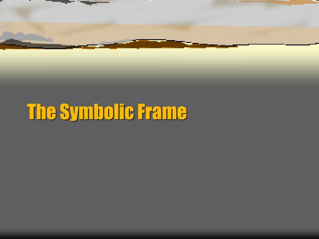 the symbolic frame l.