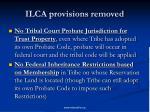 ilca provisions removed10