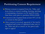 partitioning consent requirement