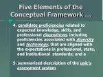 five elements of the conceptual framework10