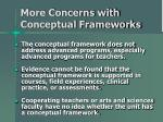 more concerns with conceptual frameworks