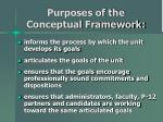 purposes of the conceptual framework