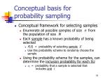 conceptual basis for probability sampling