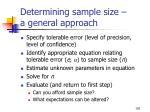 determining sample size a general approach