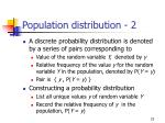 population distribution 2