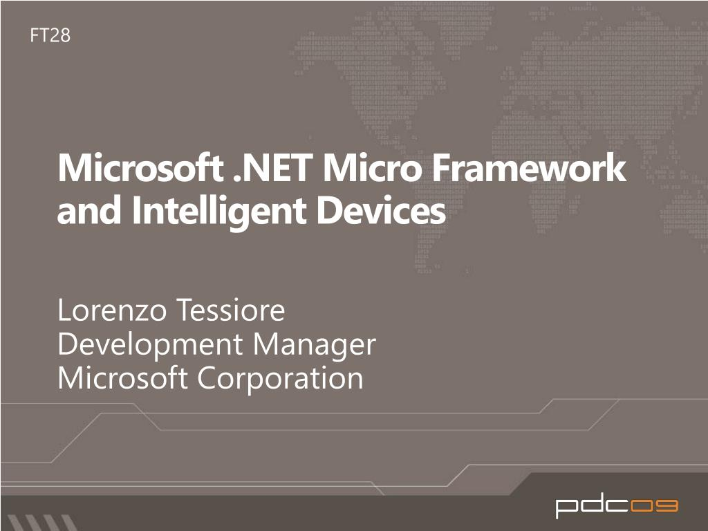 microsoft net micro framework and intelligent devices l.