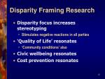 disparity framing research