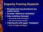 disparity framing research26
