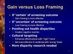 gain versus loss framing4