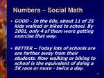 numbers social math