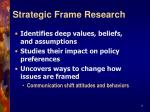 strategic frame research