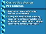 corrective action procedures
