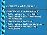 sources of causes