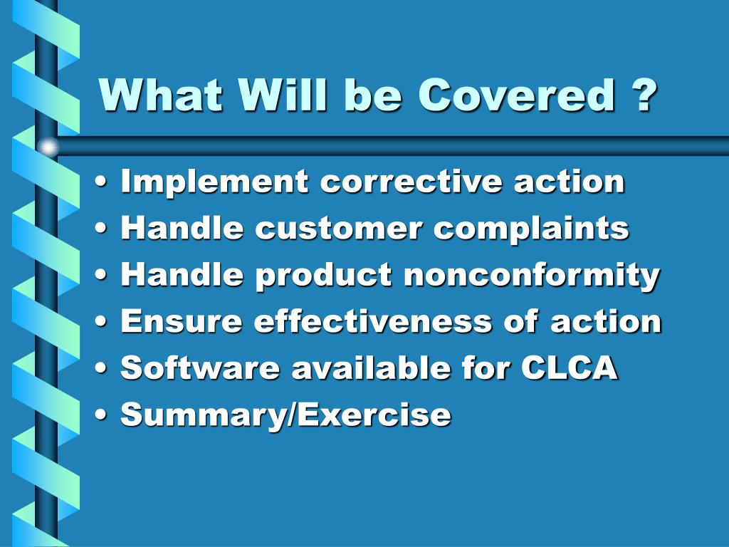 What Will be Covered ?