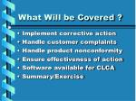 what will be covered3