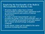 employing the functionality of the built in microcontroller of a robotic cube