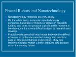 fractal robots and nanotechnology