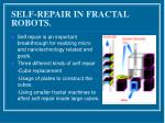 self repair in fractal robots