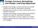 foreign currency derivatives and swaps learning objectives