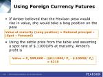 using foreign currency futures14