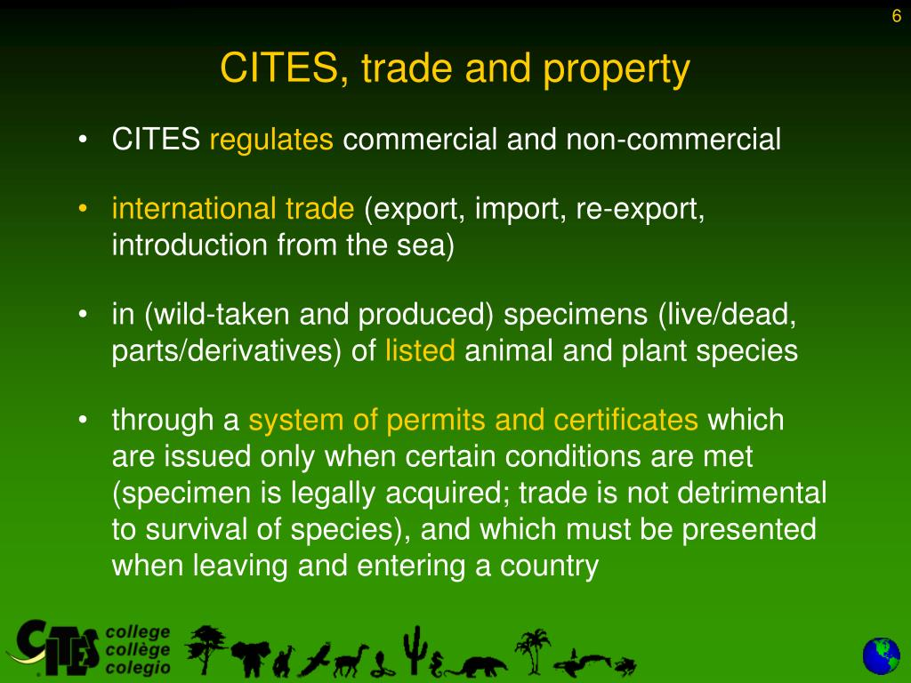 CITES, trade and property