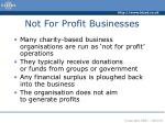 not for profit businesses