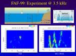 faf 99 experiment @ 3 5 khz