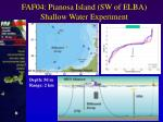 faf04 pianosa island sw of elba shallow water experiment