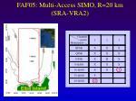 faf05 multi access simo r 20 km sra vra2